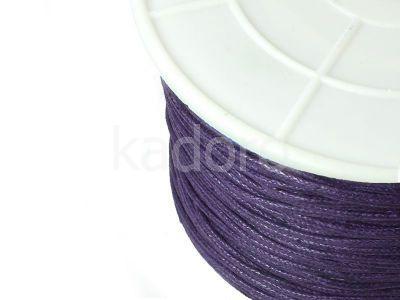 Sznurek woskowany 1 mm ciemnofioletowy - 3 m