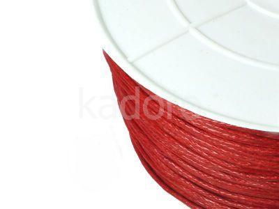 Sznurek woskowany 1 mm ciemnoczerwony - 3 m