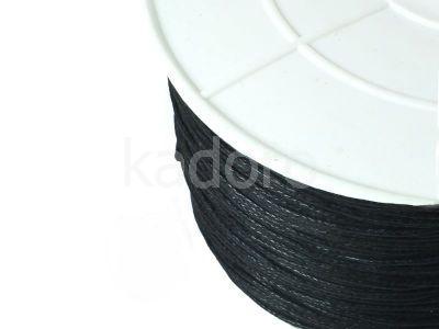 Sznurek woskowany 1 mm czarny - 3 m