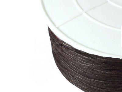 Sznurek woskowany 1 mm ciemnobrązowy - 3 m