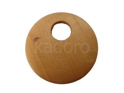 Koło drewniane go-go 40 mm jasny brąz - 1 sztuka