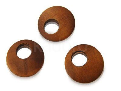 Koło drewniane go-go 23 mm średni brąz - 1 sztuka