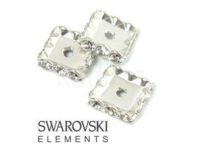 Przekładka kwadratowa 12 mm Swarovski crystal - 1 sztuka