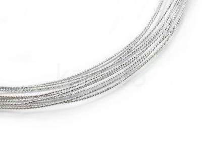 Drut srebrny ag925 1 mm spiralny - 0.5 m