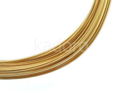 Drut srebrny 930 0.7 mm złocony - 0.5 m