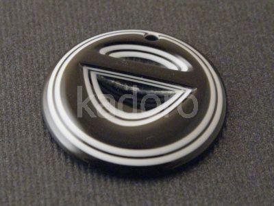 Zawieszka akrylowa okrągła 38 mm czarno-biała - 1 sztuka