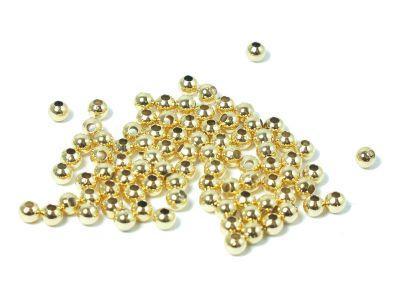 Kulki pozłacane 3 mm - 10 sztuk