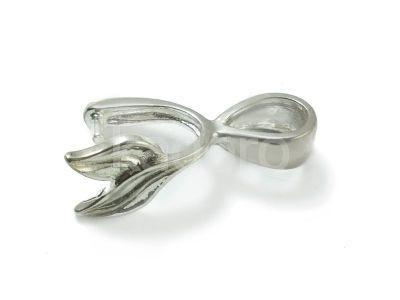 Krawatka do kryształów liść 15x10 mm - 1 sztuka