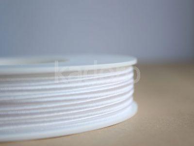 Sznurek do sutaszu biały 3 mm - 1 m