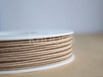 Sznurek do sutaszu beżowy 3 mm - 1 m