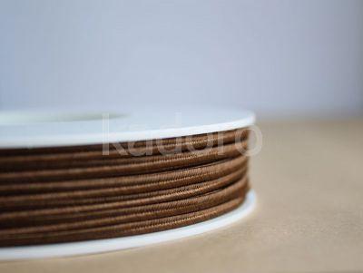 Sznurek do sutaszu brązowy 3 mm - 1 m