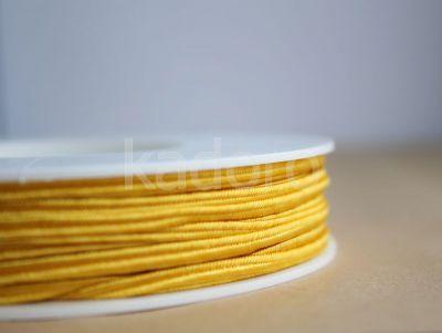 Sznurek do sutaszu żółty 3 mm - 1 m