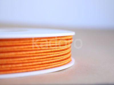 Sznurek do sutaszu pomarańczowy 3 mm - 1 m