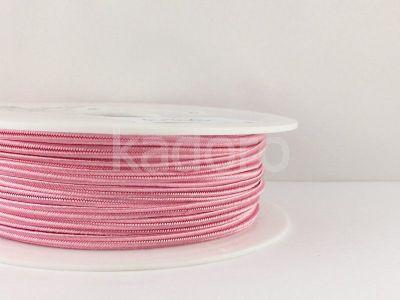Sznurek do sutaszu różowy 3 mm - 1 m