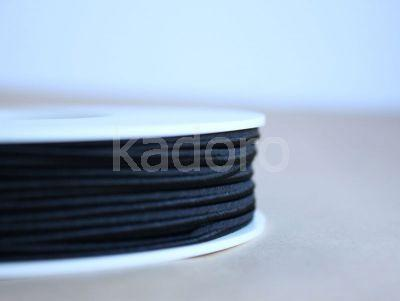 Sznurek do sutaszu czarny 3 mm - 1 m