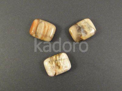 Drewno skamieniałe prostokąt 20x15 mm - 1 sztuka