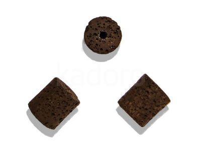 Lawa wulkaniczna brązowa wałek 15x15 mm - 1 sztuka