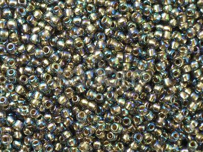 TOHO Round 11o-999 Gold-Lined Rainbow Black Diamond - 10 g