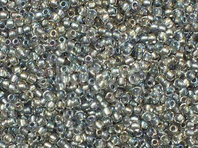 TOHO Round 11o-266 Inside-Color Gold Luster Crystal - Opaque Gray - 10 g