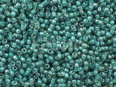 TOHO Round 11o-1833 Inside-Color Rainbow Lt Sapphire - Opaque Teal Lined - 10 g