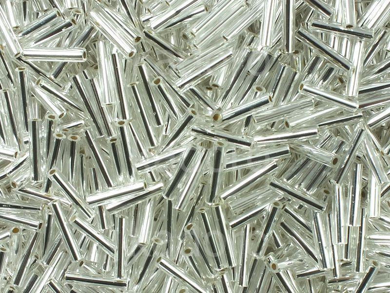 TOHO Bugle 3-21 Silver-Lined Crystal - 10 g