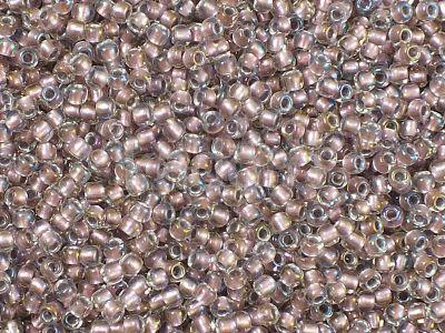 TOHO Round 11o-267 Inside-Color Crystal - Rose Gold Lined - 10 g