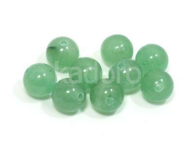 Awenturyn zielony kula 8.5 mm - 2 sztuki