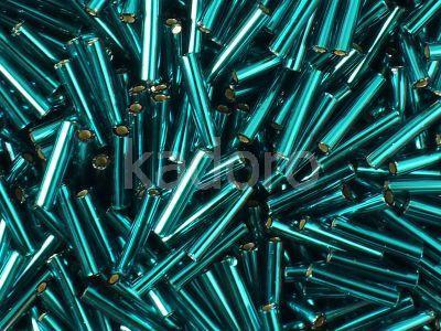 TOHO Bugle 3-27BD Silver-Lined Teal - 10 g