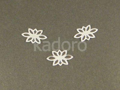 Łącznik posrebrzany kwiatek 14x9 mm - 5 sztuk