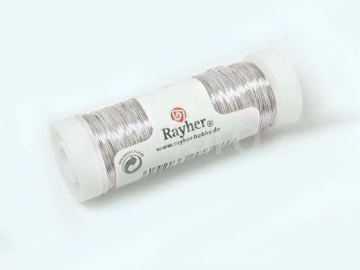 Drut posrebrzany Rayher 0.25 mm - szpula 100 m