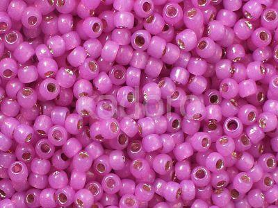 TOHO Round 8o-2107 Silver-Lined Milky Hot Pink - 10 g