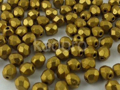 FP 4mm Matte Metallic Aztec Gold - 40 sztuk