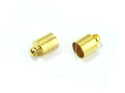 Końcówki do wklejania 12x8 mm złote - 2 sztuki