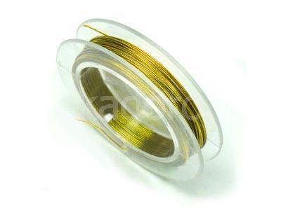 Linka jubilerska 0.38 mm złota - 10 m