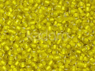 TOHO Round 8o-32F Silver-Lined Frosted Lemon - 10 g
