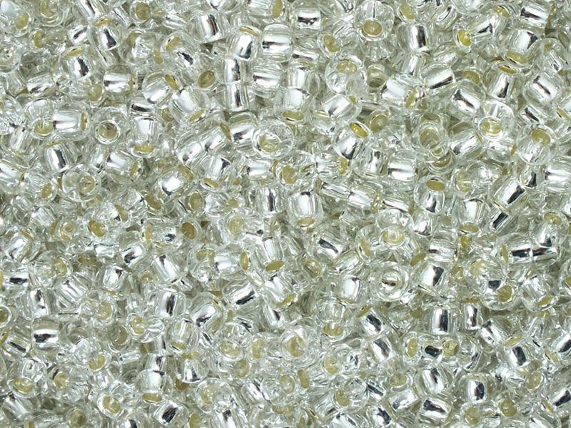 TOHO Round 8o-21 Silver-Lined Crystal - 10 g