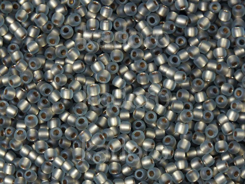 TOHO Round 11o-999F Frosted Gold-Lined Black Diamond - 10 g