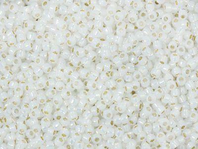 TOHO Round 11o-2100 Silver-Lined Milky White - 10 g