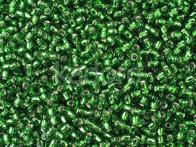 TOHO Round 11o-27B Silver-Lined Grass Green - 10 g
