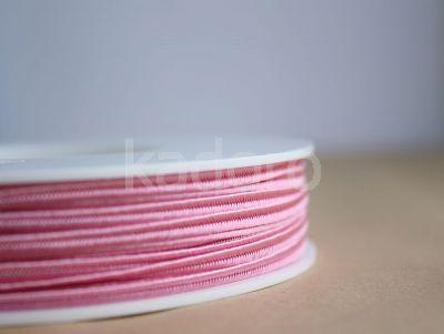 Sznurek do sutaszu różowy III 3 mm - 1 m