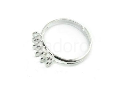 Baza pierścionka z kółeczkami - 20 mm