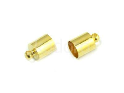 Końcówki do wklejania 11x7 mm złote - 2 sztuki
