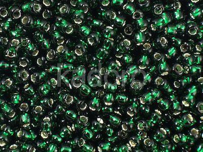 TOHO Round 8o-36 Silver-Lined Green Emerald - 10 g
