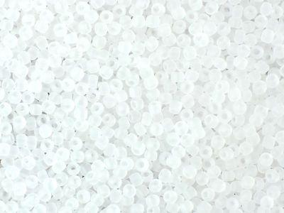 TOHO Round 11o-1F Transparent-Frosted Crystal - 10 g