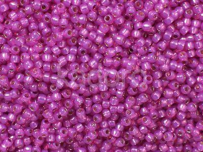 TOHO Round 11o-2107 Silver-Lined Milky Hot Pink - 10 g