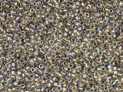 TOHO Round 15o-994 Gold-Lined Rainbow Crystal - 5 g