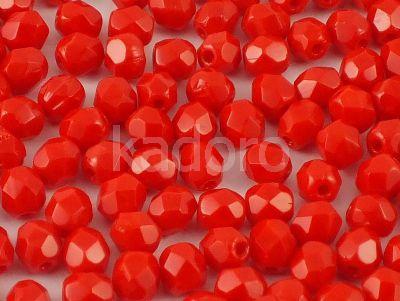 FP 4mm Opaque Red - 40 sztuk