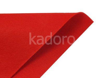 Filc miękki 1 mm czerwony (150) - arkusz 30x20 cm