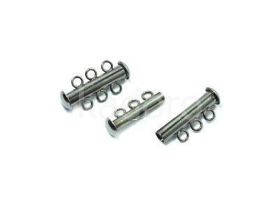 Zapięcie slide gunmetal z 3 loopami - 1 sztuka