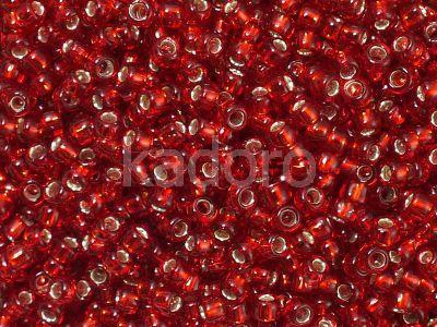 TOHO Round 8o-25C Silver-Lined Ruby - 10 g